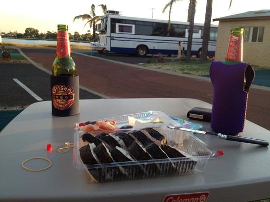 Discovery Parks - Koombana Bay:                   cider and sushi