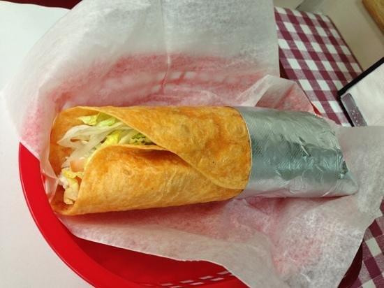 Stavros Pizzeria & Deli:                   Chicken Salad wrap! Loaded wrap of goodness!!