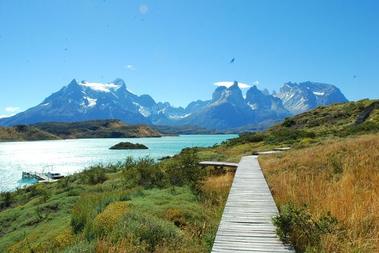 explora Patagonia:                   View of Torres del Paine Massif from Hotel Explora