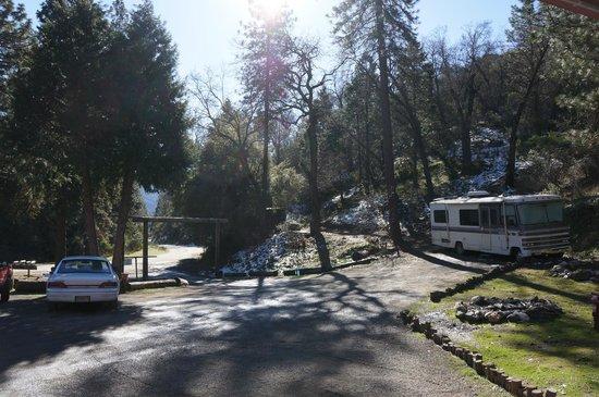 Cyndi's Snowline Lodge: The Parking Lot/Entrance