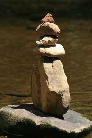 West Fork Oak Creek Trail: A rock stack or hoodo