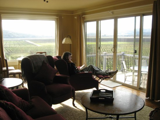 Auberge on the Vineyard: view from Carriage house