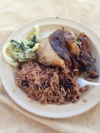 Hotel Riu Montego Bay:                                     yum jerk chicken