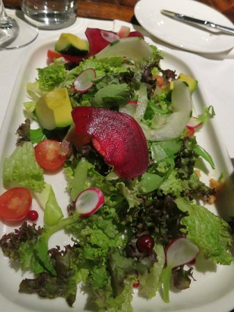 The Singular Patagonia :                   Salad at the Singular hotel, Patagonia