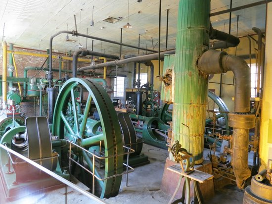 The Singular Patagonia :                   museum of old factory equipment at the Singular hotel, Patagonia