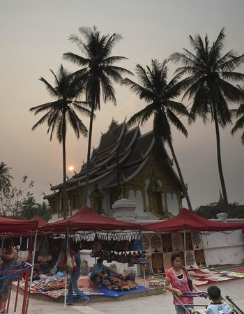 Mekong Riverview Hotel: One of the many temples in Luang prabang. Photo by Peter Derrett