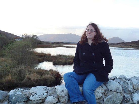 Quiet Man Bridge:                   Sarah on the Bridge