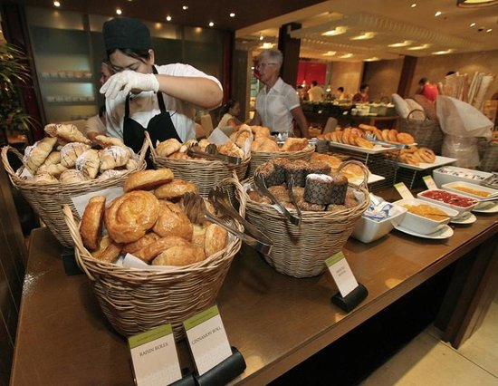 Novotel Phuket Surin Beach Resort.: Buffet breakfast. Bread and more bread. Huge bowl of jams to fill up the counter space.