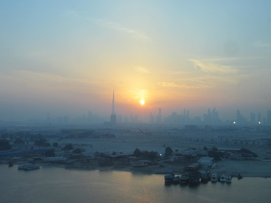 Crowne Plaza Dubai Festival City:                   Sunset from the room