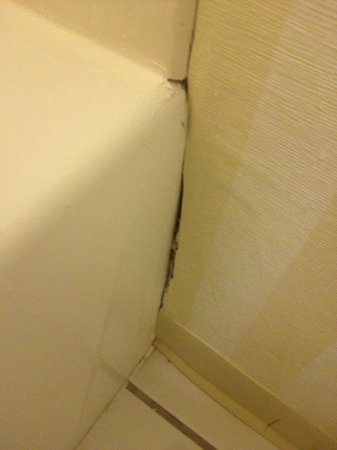 Fairfield Inn & Suites Dallas DFW Airport North/Irving: C'mon this is unacceptable, as least seal the area