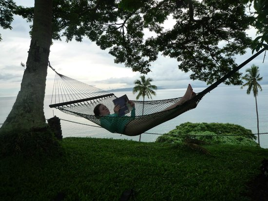 Nakia Resort & Dive:                                     relaxing in one of the hammocks