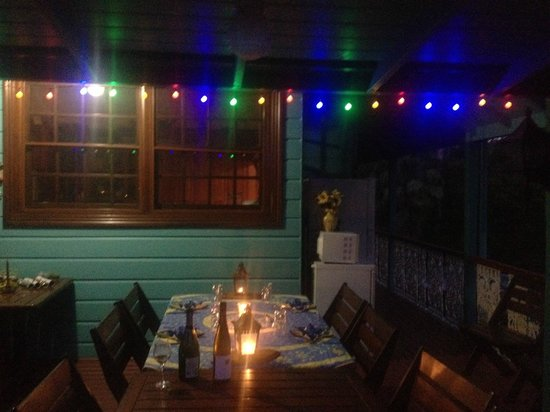 Riviera B&B:                   Dinner under the stars