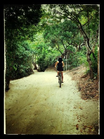Six Senses Ninh Van Bay:                   cycling in the property