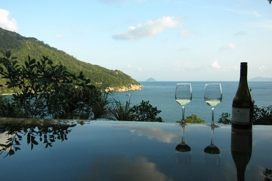 Six Senses Ninh Van Bay:                   view from our private pool