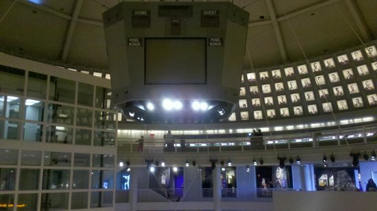 Basketball Hall of Fame:                   Another view of the center court