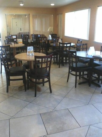 Quality Inn near Six Flags Discovery Kingdom-Napa Valley :                   Eating area in breakfast room