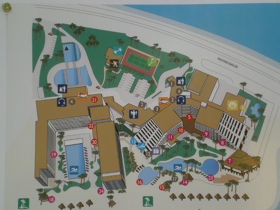 Grand Oasis Palm:                   Resort Layout