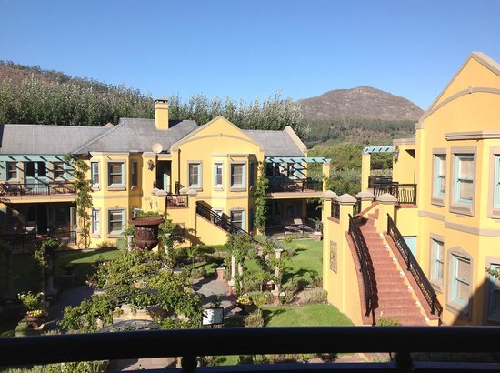 Franschhoek Country House & Villas:                   view at breakfast