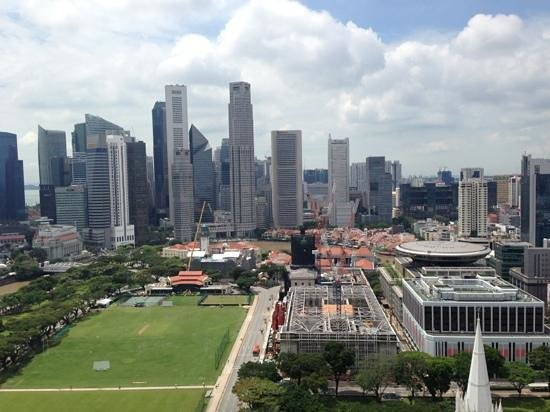 Swissotel The Stamford Singapore: view from 35th floor