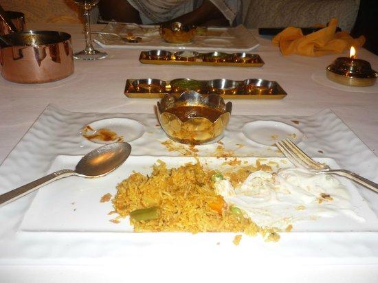 Southern Spice:                                                       Chettinad Biryani with Raita