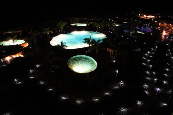 Villa del Palmar Beach Resort & Spa at The Islands of Loreto:                   beautiful lights at night