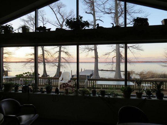 Acorn Point Lodge:                                     the dining room window