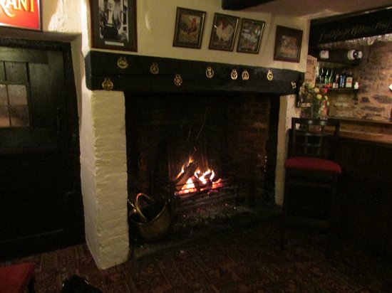 The Crown At Hopton:                   Log fire in the bar