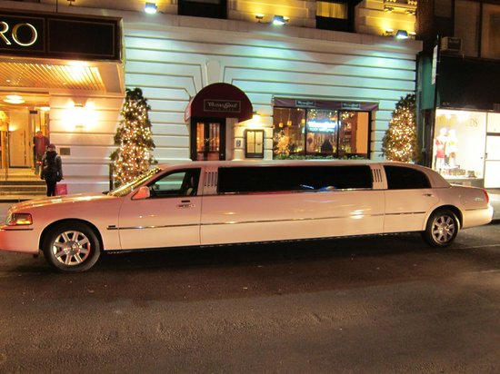 Hotel Metro:                   The entrance with our limo ;-)