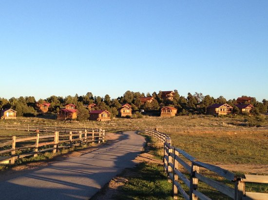 Zion Mountain Ranch:                   View of the cabins from the entrance of the resort