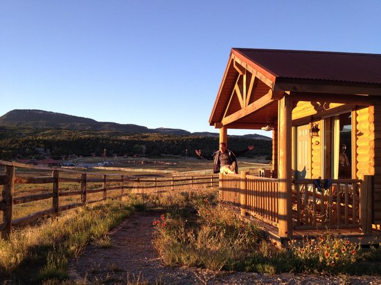 Zion Mountain Ranch:                   Our cabin at sunset