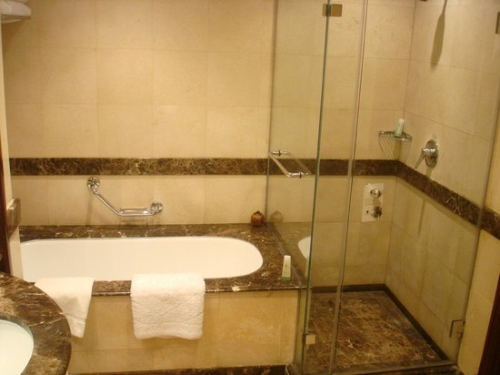 JW Marriott Hotel Cairo:                                     tub and shower area