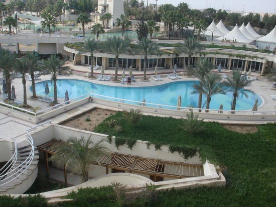 JW Marriott Hotel Cairo:                                     Outdoor pool with wave pool in the background
