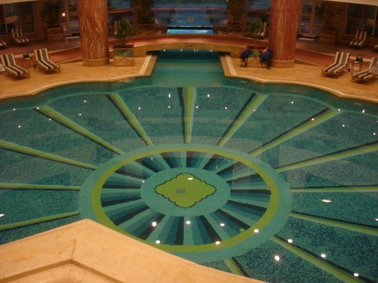 JW Marriott Hotel Cairo:                                     Heated indoor pool leading to heated outside pool
