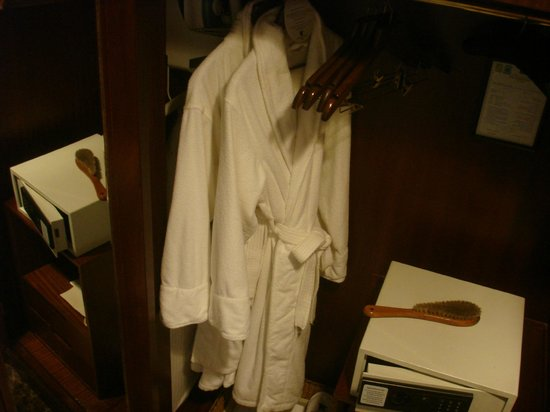 JW Marriott Hotel Cairo:                                     room closet with thick bath robes
