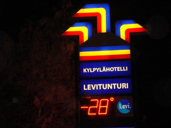 Spa Hotel Levitunturi:                                     How low is the temp.