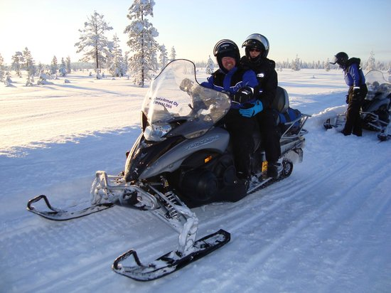 Levi Hotel Spa:                                     Snowmobile ride