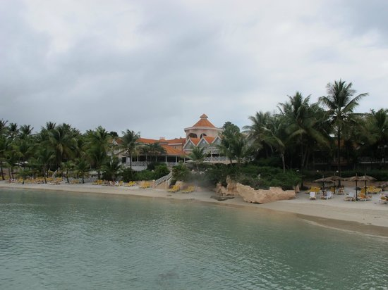Coco Reef Resort & Spa Tobago:                   View of hotel from the lagoon
