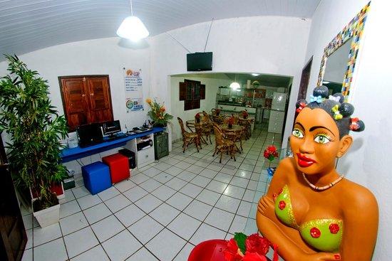 Pousada Del Mares: RECEPÇÃO E SALA DE CAFÉ DA MANHÃ