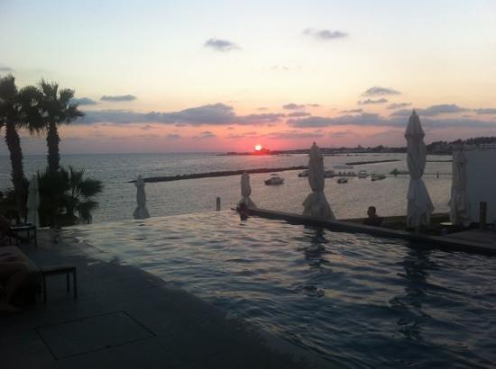 Almyra Hotel:                   sunset by spa pool