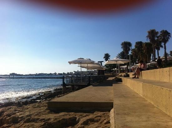 Almyra Hotel:                   hotel beach area