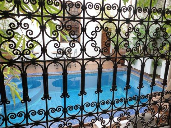 Riad l'Orangeraie:                   La vue depuis notre chambre à coucher.
