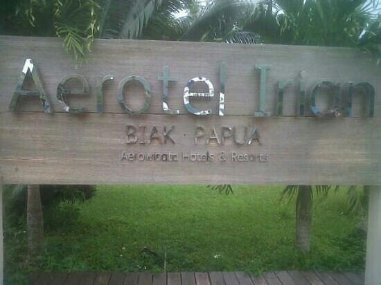 Biak, Indonésie : sign