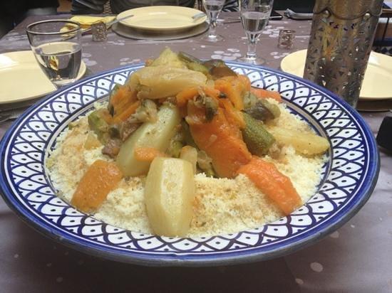 Riad Ines Home :                                     Le fameux couscous