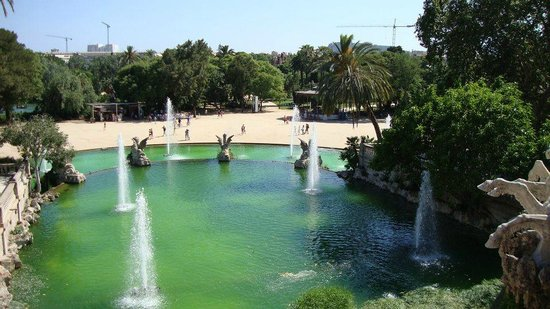 Parc de la Ciutadella:                   Vista dall'alto della fontana