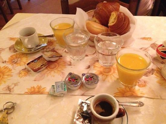 HOTEL LORENA:                   la colazione!