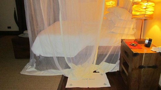 Neptune Ngorongoro Luxury Lodge: scented pillows, firmness provided