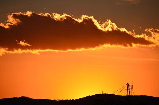 Majestic Hotel & Spa Barcelona:                   Sonnenuntergang auf der Terrasse