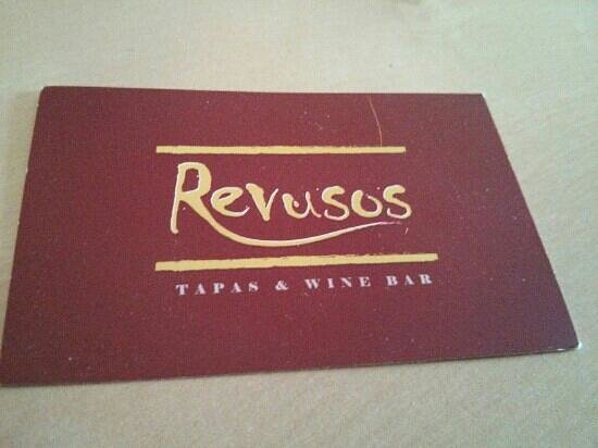 Revusos Tapas & Wine Bar:                                     business card