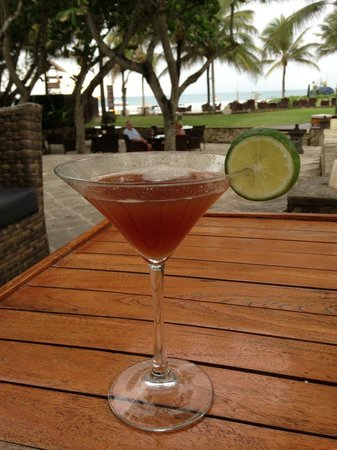 The Royal Beach Seminyak Bali - MGallery Collection:                   The view over a French Martini at Capri's (bar in the resort).