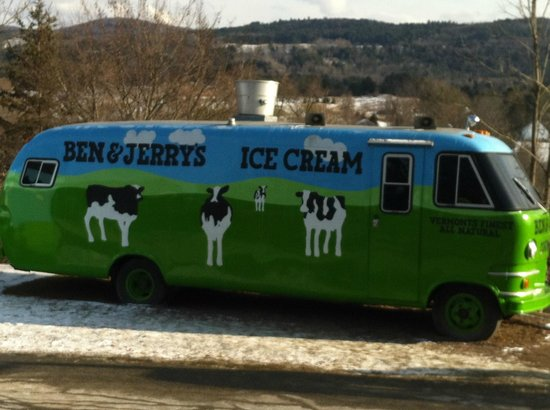 Ben & Jerry's:                   Bus in front of the factory
